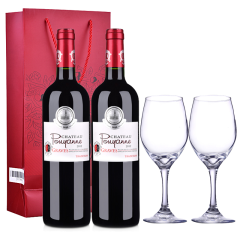 法国波漾城堡村庄级AOC葡萄酒750ml*2(酒具三件套)