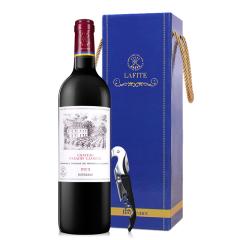 法国拉菲凯萨天堂古堡波尔多法定产区红葡萄酒750ml单支礼盒