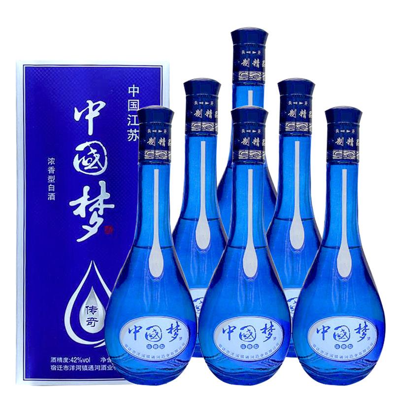 42°度中国梦传奇白酒500ml(6瓶装)【价格 品牌 图片