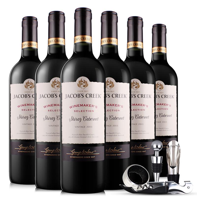 澳洲杰卡斯酿酒师系列西拉加本力干红葡萄酒750ML*6 整箱装