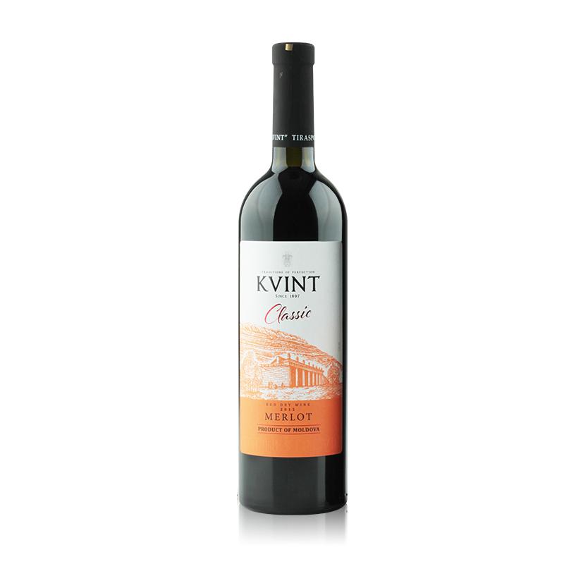 摩尔多瓦凯文特黄金鲟古堡梅洛干红葡萄酒750ml