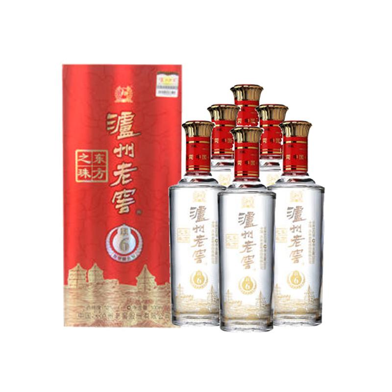 52°泸州东方之珠500ml(6瓶装)