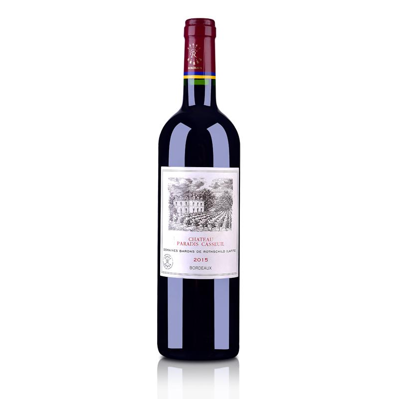 法国红酒法国拉菲凯萨天堂古堡波尔多法定产区红葡萄酒750ml