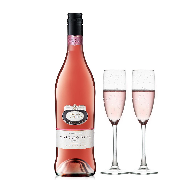 澳大利亚布琅/布朗兄弟莫斯卡托桃红葡萄酒