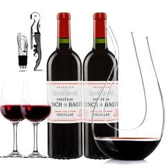 (列级庄·名庄·正牌)法国原瓶进口靓茨伯酒庄2010干红葡萄酒双支醒酒器装750ml*2