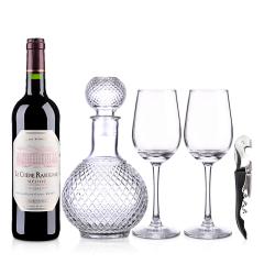 法国红酒海蒂克梅多克干红葡萄酒750ml品酒大礼包(醒酒器+酒杯*2+酒刀)