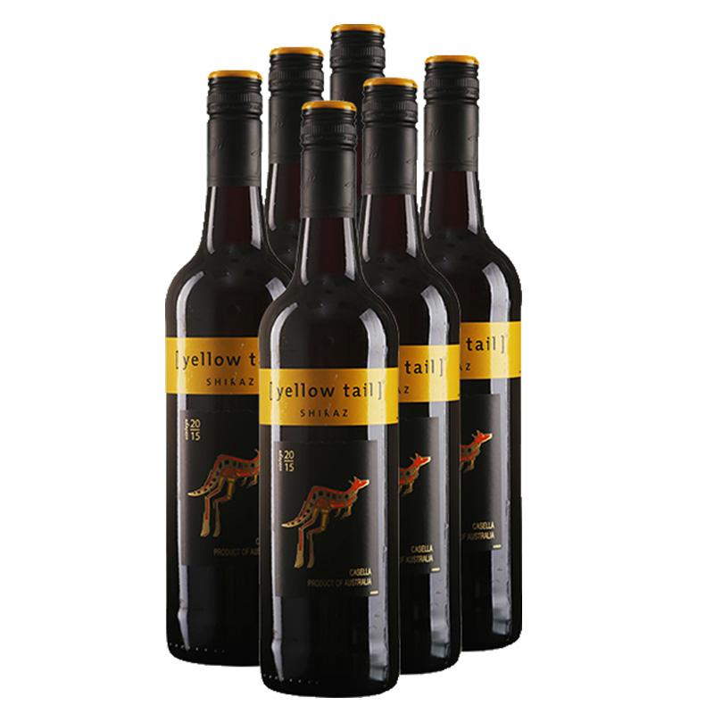 黄尾袋鼠西拉红葡萄酒750ml6支装