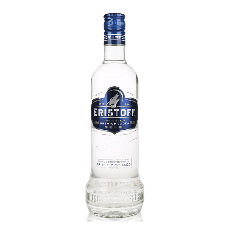 法国进口洋酒 皇太子伏特加 ERISTOFF VODKA 700ml