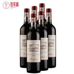 拉菲尚品波尔多法定产区红葡萄酒750ml  6支装