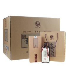 45°迎春酒私藏定制酱香白酒500ml(6瓶装)