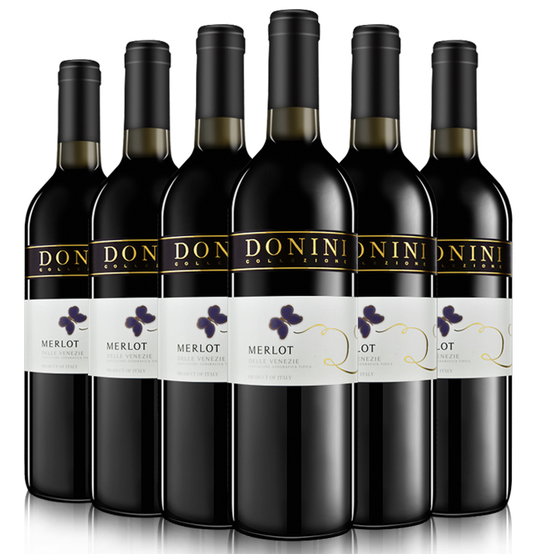 意大利蝴蝶谷原瓶进口干红葡萄酒750ml*6瓶装
