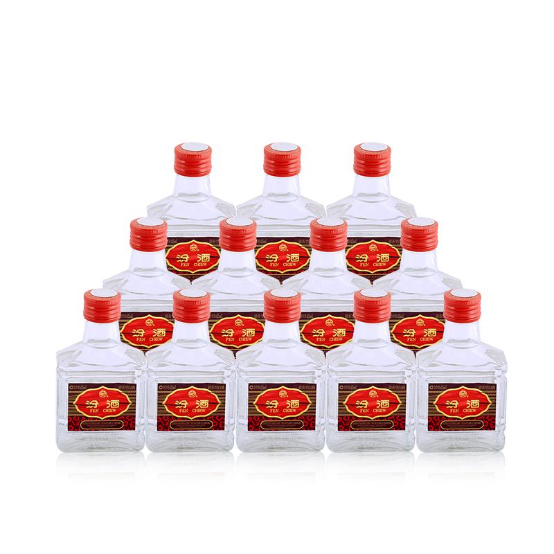 48°杏花村汾酒小瓶玻璃瓶装125ml(12瓶装)