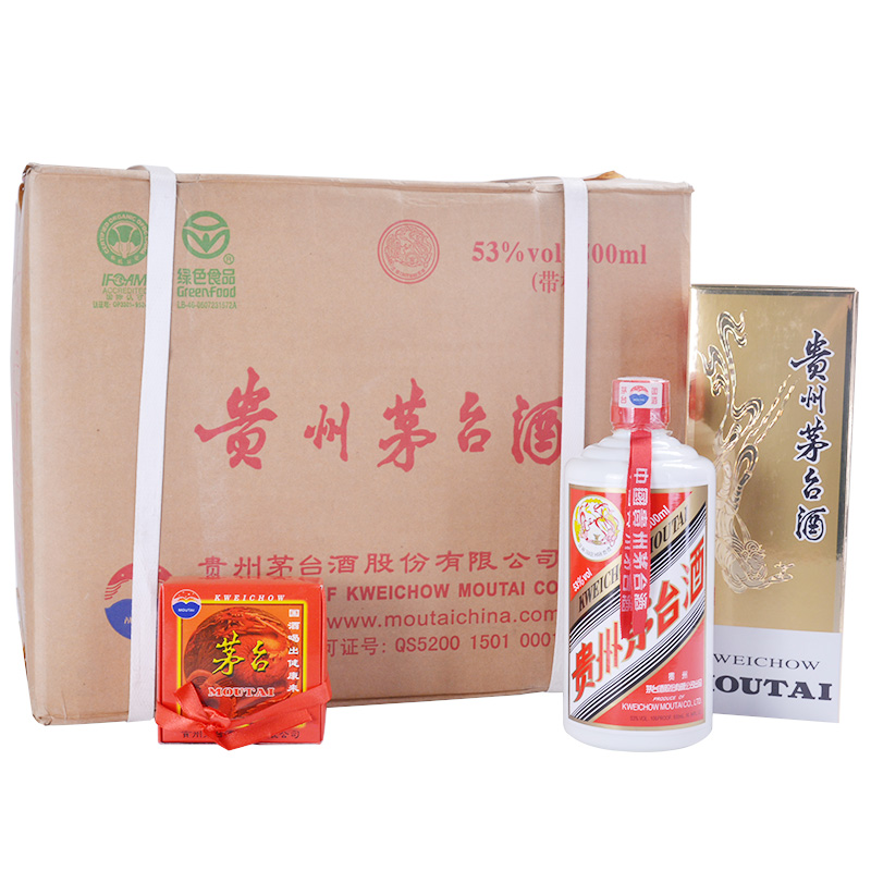 53°飞天茅台500ml(2006年)(12瓶装)整箱