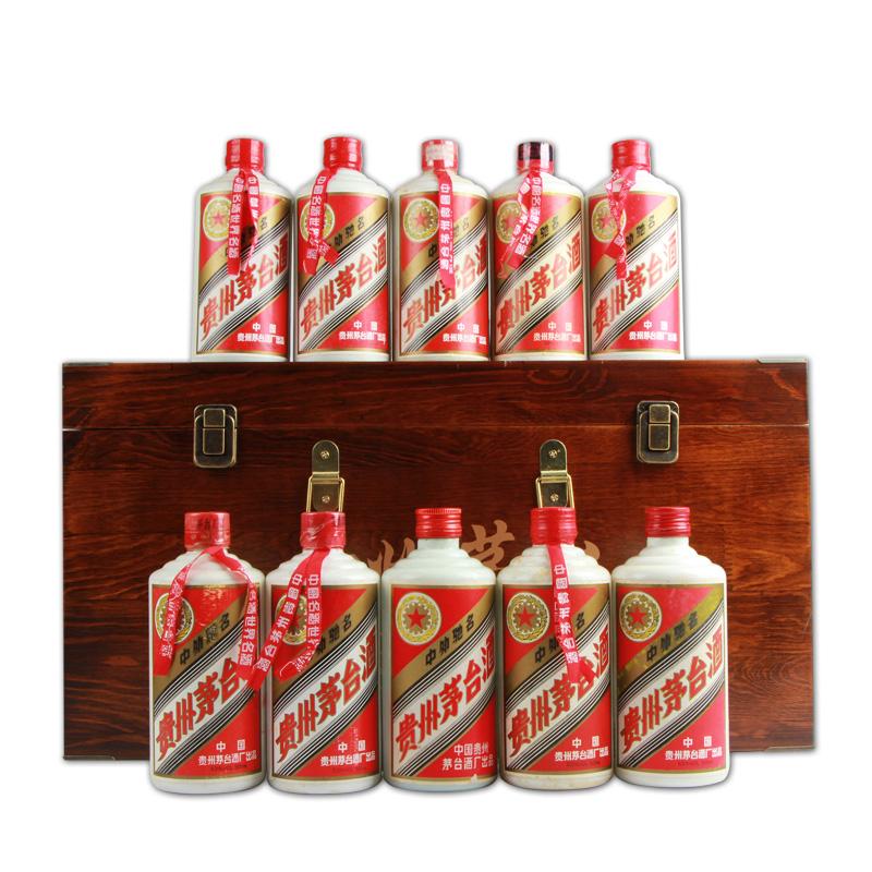 1990-1999年十瓶茅台套装,陈年老酒