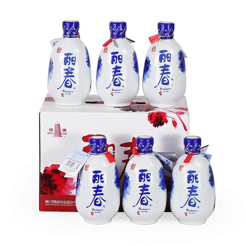 绍兴黄酒塔牌丽春精致花雕酒 整箱礼盒 375mlx6瓶