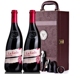 法国教皇新堡菲奥庄园lafiole莱馥尔隆河丘干红葡萄酒 双支礼盒装750ml*2