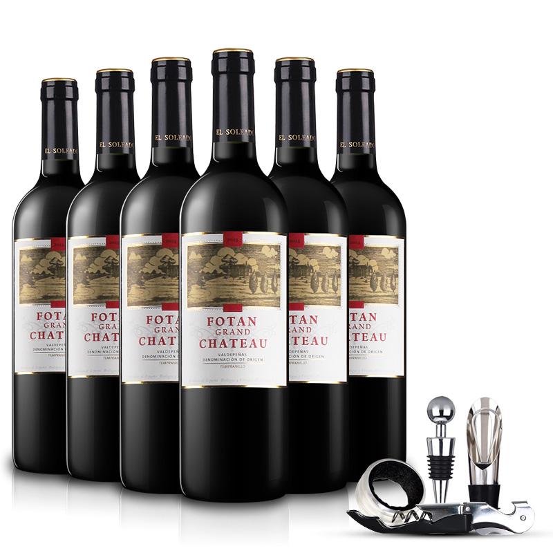 西班牙DO级红酒孚坦帝国城堡干红葡萄酒750ml*6 整箱装
