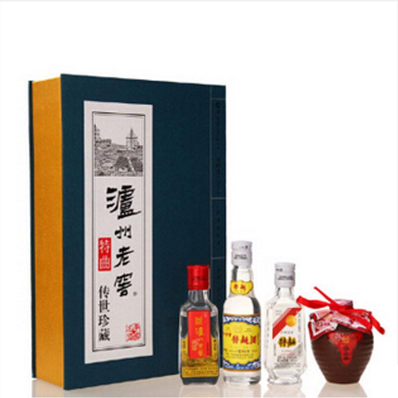 52°泸州老窖特曲传世珍藏 (2008年) 50ml*4瓶