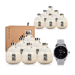 52°金不换秘酿私藏小窖500ml(12瓶装)+罗西尼手表(专属订制版)