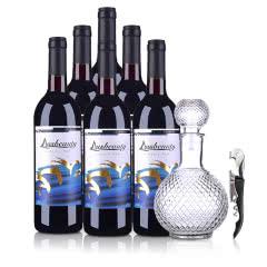 【红洋酒特卖】澳大利亚红酒整箱澳丽庄园经典红葡萄酒750ml(6瓶套)醒酒器酒刀