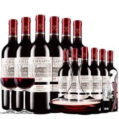 路易拉菲2009珍酿原酒进口红酒男爵古堡干红葡萄酒红酒整箱12支醒酒器装750ml*12
