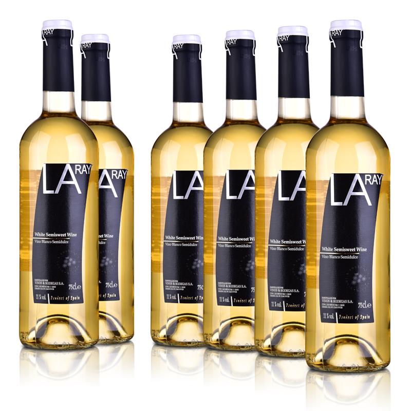 西班牙拉伊尔半甜白葡萄酒750ml (6瓶装)