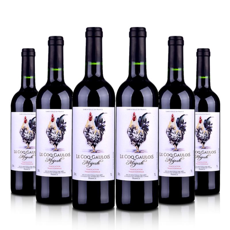 法国(原装原瓶进口)法皇雄鸡干红葡萄酒750ml(6瓶装)