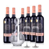 智利整箱红酒智利干露.克拉克干红葡萄酒750ml(6瓶装)+醒酒器+酒杯