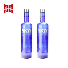 深蓝原味伏特加750ml*2