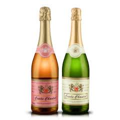 法国原瓶进口起泡酒霜桐之恋起泡酒桃红甜白葡萄酒甜蜜组合750ml*2