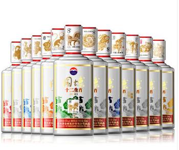 【酒逢知己】53°贵州茅台酒 国博十二生肖500ml(12瓶装)
