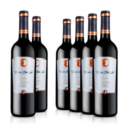 智利原瓶进口红酒阳溢满园干红葡萄酒750ml*6整箱装