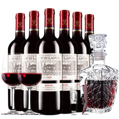 路易拉菲2009男爵古堡干红葡萄酒红酒整箱欧式醒酒器装 750ml*6