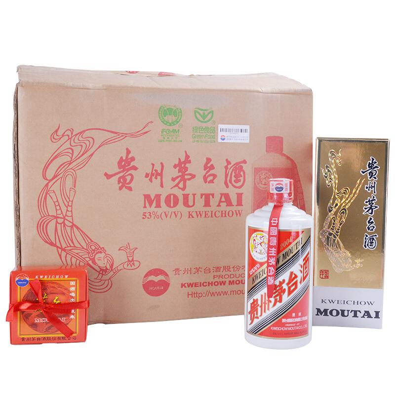 53° 贵州茅台酒(飞天牌2004年) 500ml*12瓶 整箱
