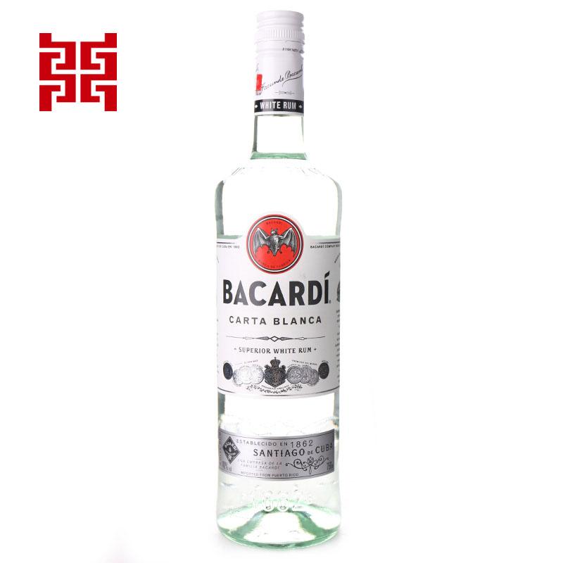 百加得白朗姆酒750ml