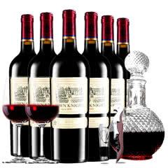 黎明骑士2009珍酿原酒进口红酒男爵古堡干红葡萄酒红酒整箱欧式球形醒酒器装750ml*6