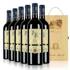 法国原瓶进口红酒中级庄贝桥城堡波尔多干红葡萄酒750ml整箱6支装