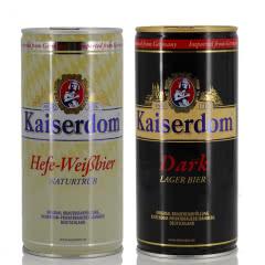 德国啤酒Kaiserdom凯撒黑啤加白啤组合1000ml*2