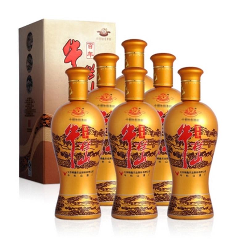 38°牛栏山精制金牛500ml(6瓶装)