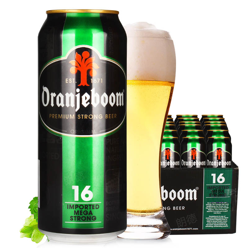 进口烈性啤酒橙色炸弹16度烈性啤酒500ml(24听装)