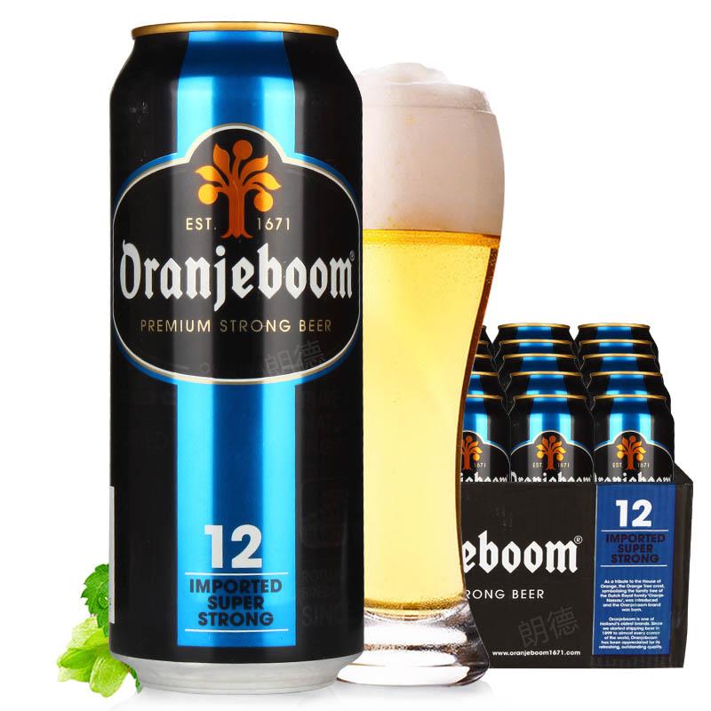 进口烈性啤酒橙色炸弹12度烈性啤酒500ml(24听装)