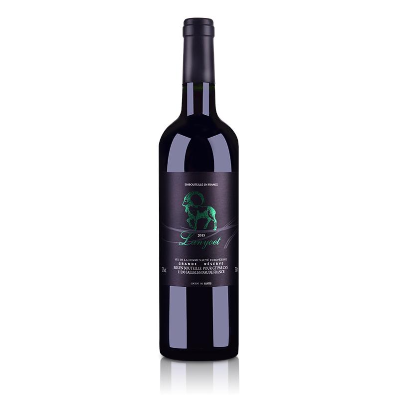 法国兰悦绿羊红葡萄酒750ml