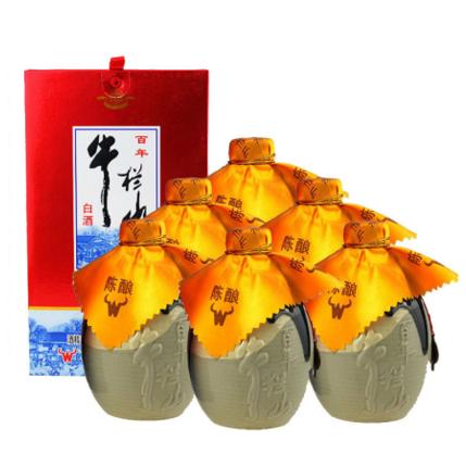 (老酒特卖)53°牛栏山二锅头陈酿20  500ml(6瓶装)