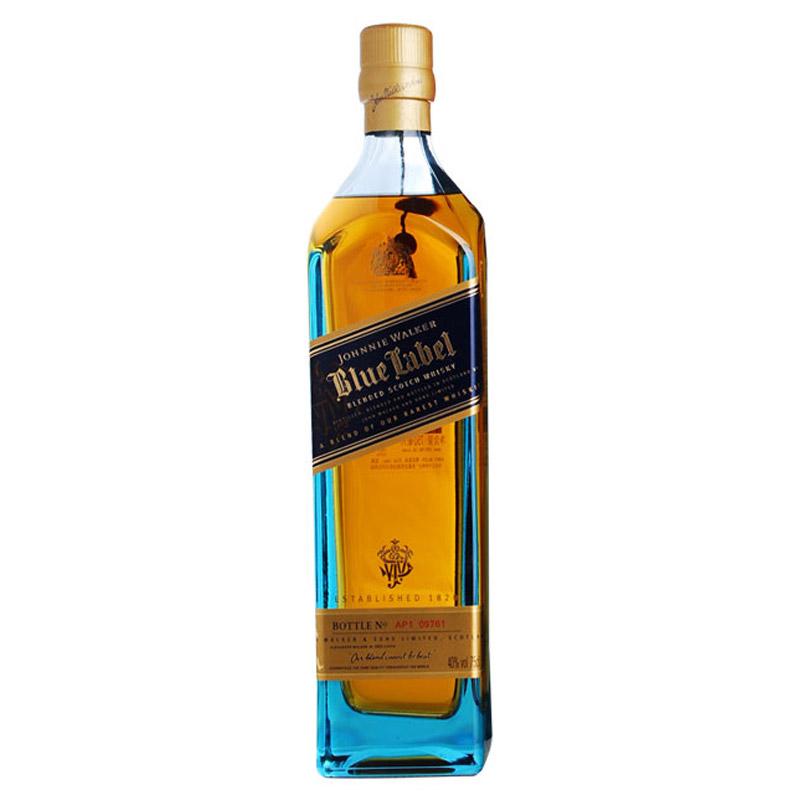 40°英国尊尼获加蓝牌(Johnnie Walker)蓝方苏格兰威士忌进口洋酒700ml