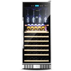 维诺卡夫(vinocave)CWC-128A 压缩机恒温红酒柜 配挂杯架+展示层架