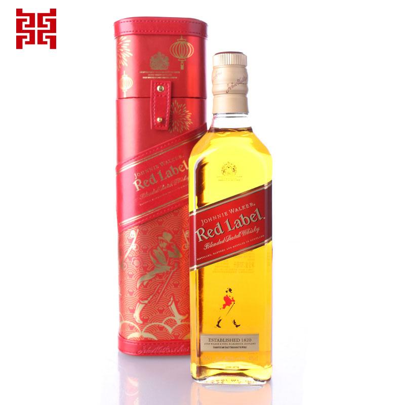 进口洋酒 Johnnie Walker尊尼获加红牌苏格兰调配型威士忌700ml新春礼盒