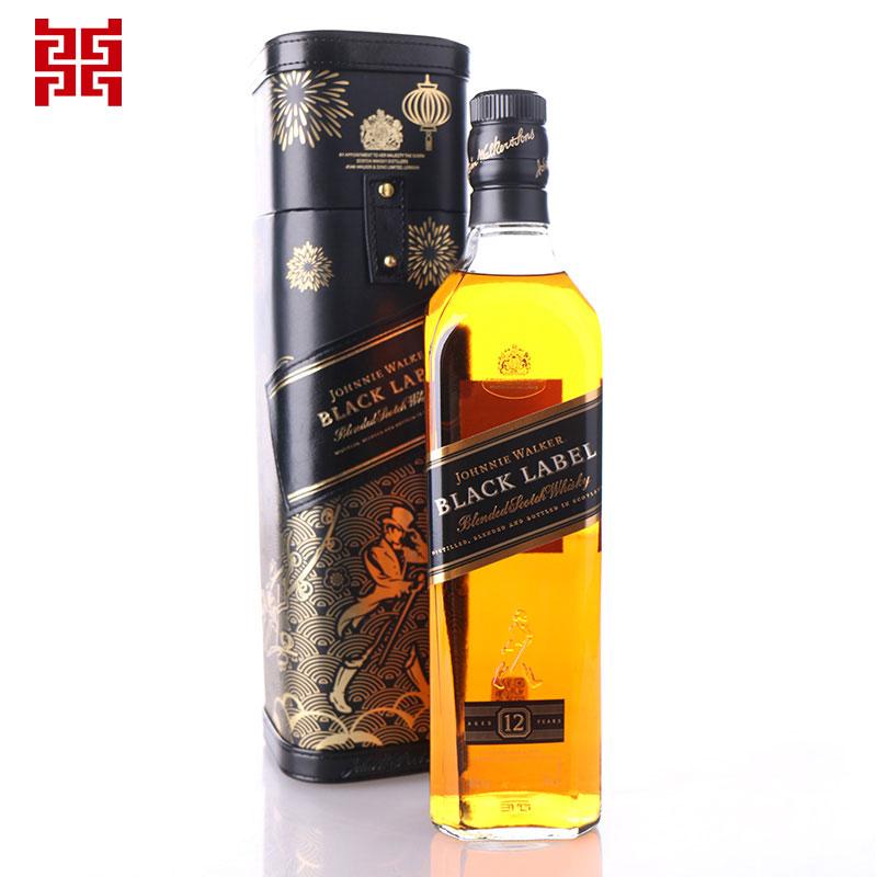 尊尼获加 黑牌黑方威士忌新春礼盒700ML