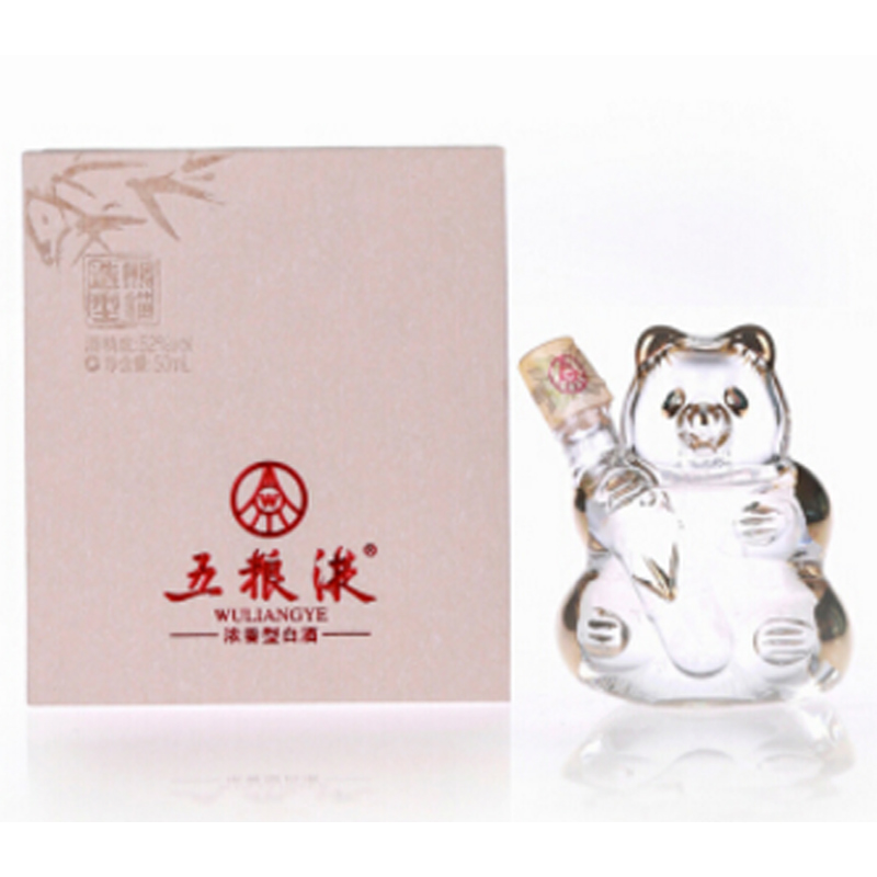 52°五粮液熊猫造型小酒版 50ml(2012年)