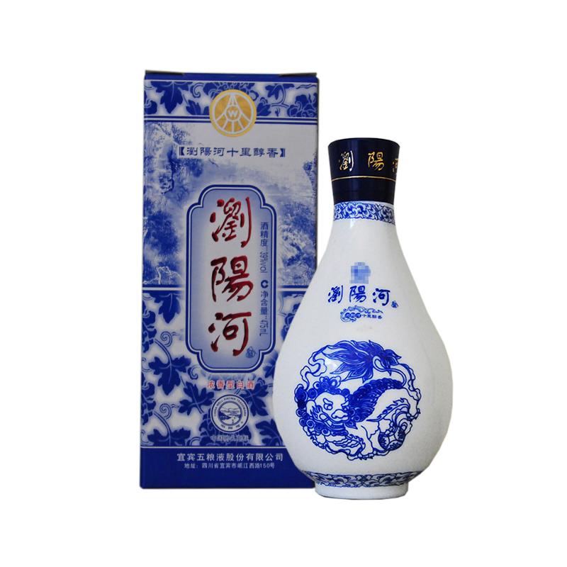 39°宜宾五粮液股份出品 浏阳河十里醇香酒 陈年老酒 浓香型白酒 475ml(2007年)