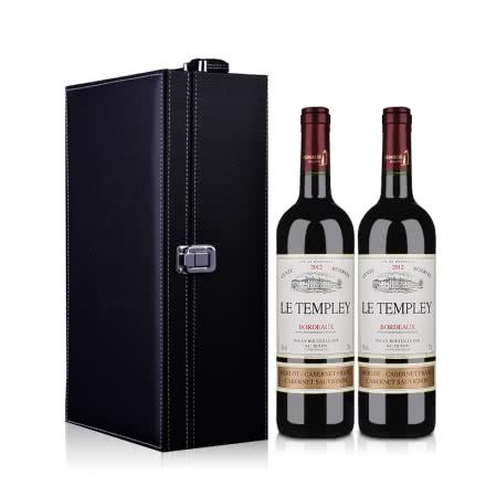 法国杜隆波尔多坦普雷古堡2012AOC 750ml*2 礼盒装